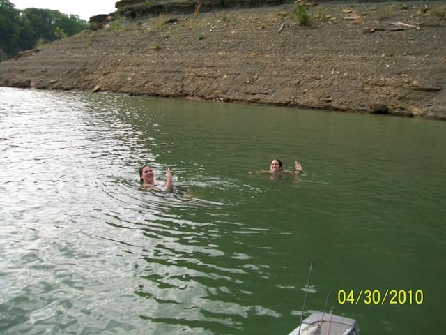 swimming in our bay
