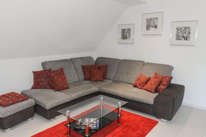 Ferienwohnung Kunibert, (Stockach-Wahlwies), Ferienwohnung, 90qm, Balkon, 2 Schlafzimmer, max. 4 Personen
