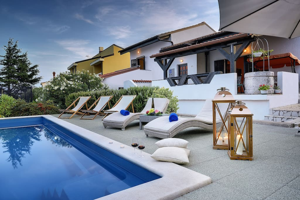Sunset at your villa...