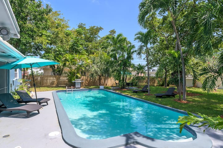 Tropical House 3 Bedrooms with Pool Oakland Park