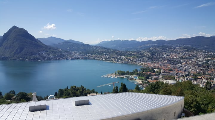 Lake view with shared pool (ALDESAGO)