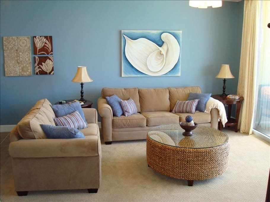 Family Room with Gulf View and Queen Sleeper Sofa