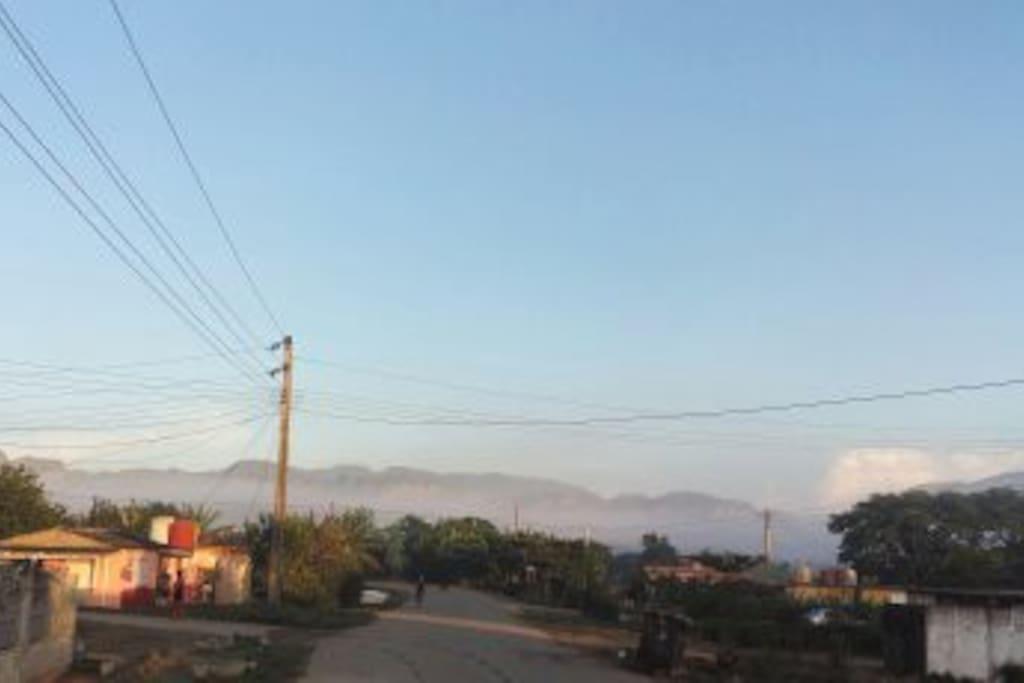 Vista al amanecer