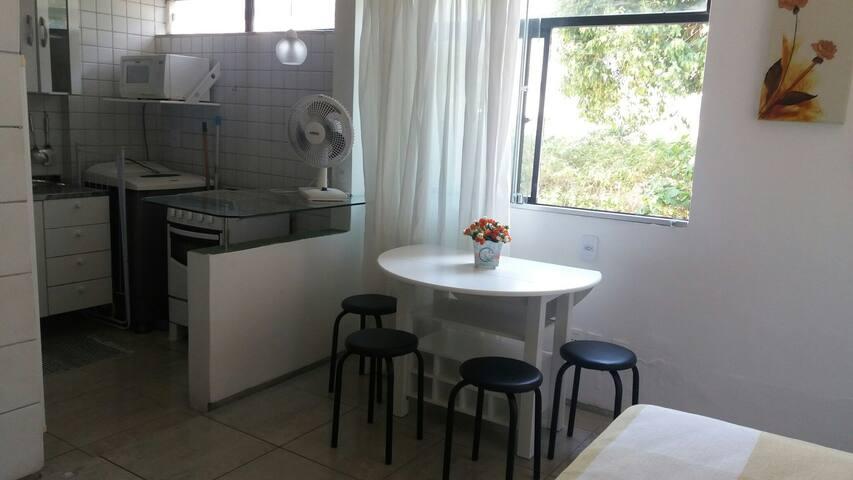 Apartamento 1 quarto, beira mar, Manaíra