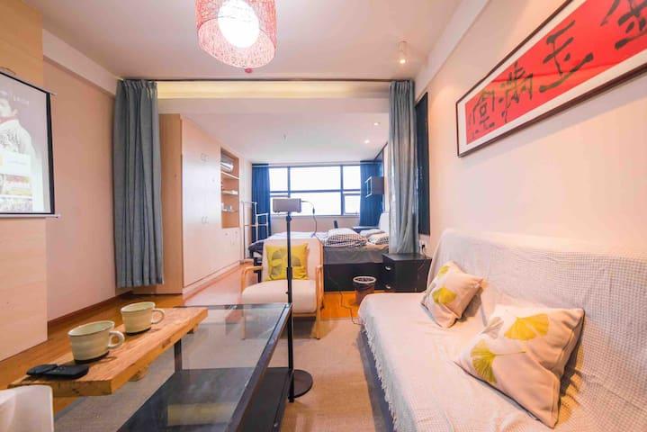 新文化广场私人影院舒适大床房
