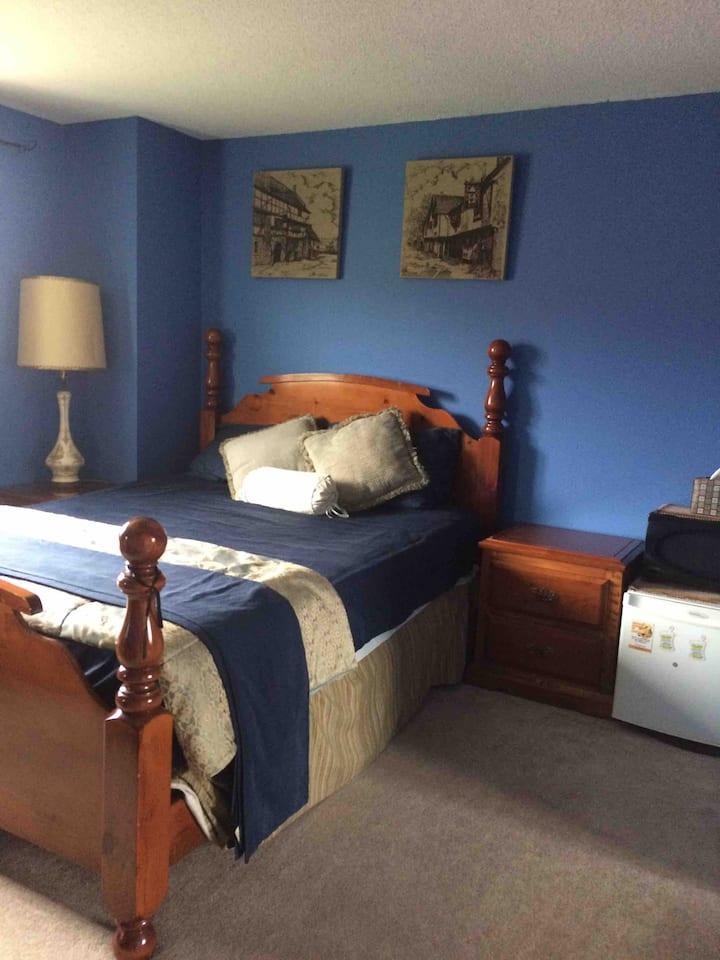 Comfortable,Spacious room big bed,fridge, microwav