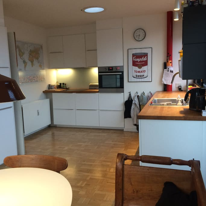 The kitchen, which has good floor space and all facilities