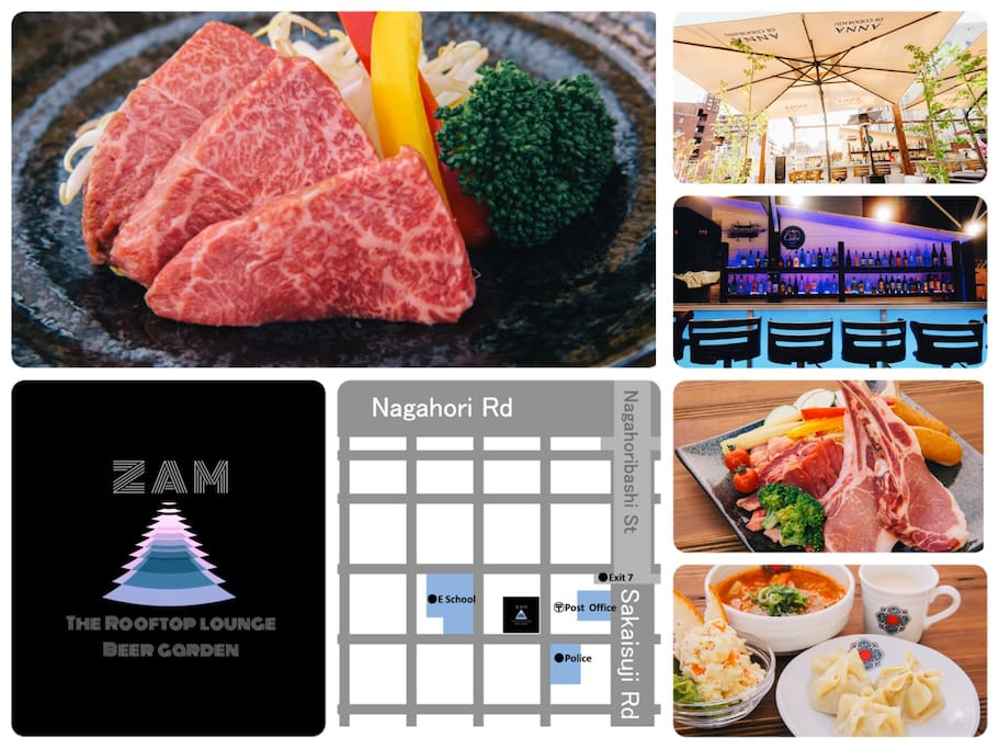 We are pleased to introduce you our newly opened roof-top BBQ restaurant!!  Here you can enjoy the lovely weather in a stylish seats and bar counter. ideal for big group family meal to romantic night with your partner.  We offer Mongolian style food but also offer most recommended highest quality Japanese Beef (Saga Gyu)
