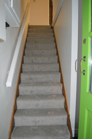 stairs from entrance door