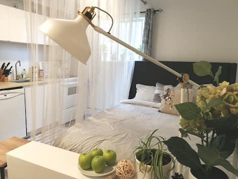 Clean, Quiet Studio Apartment 10min WEM  or UofA