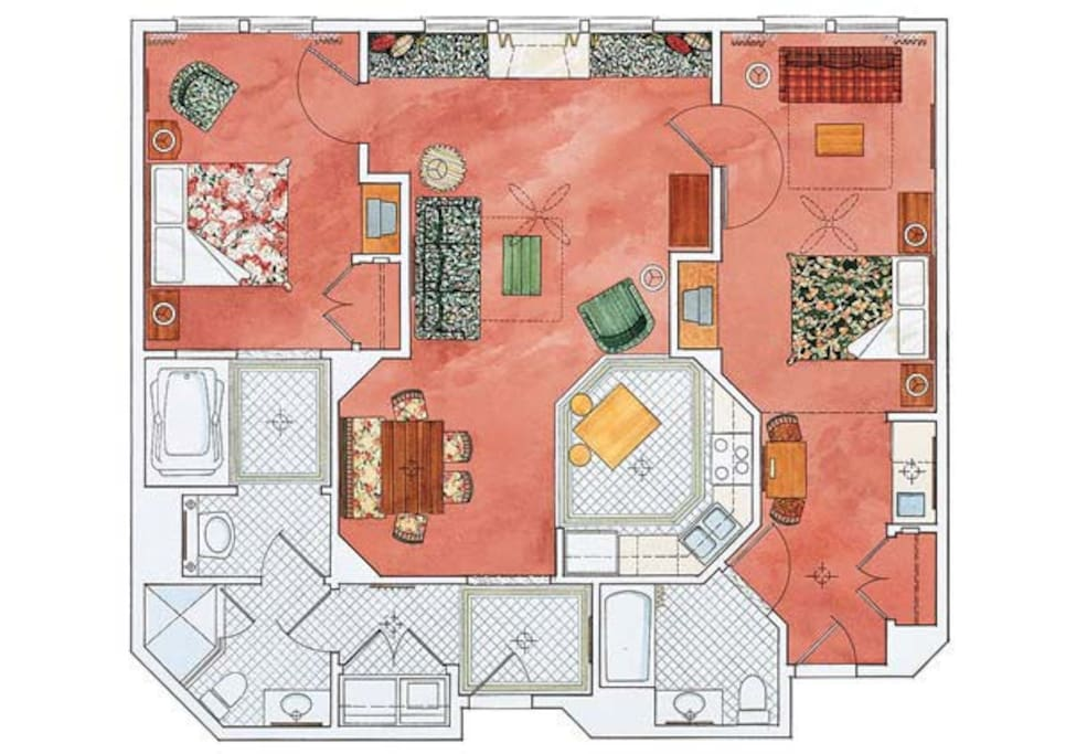 Floorplan - Large 2-Bedroom Condo