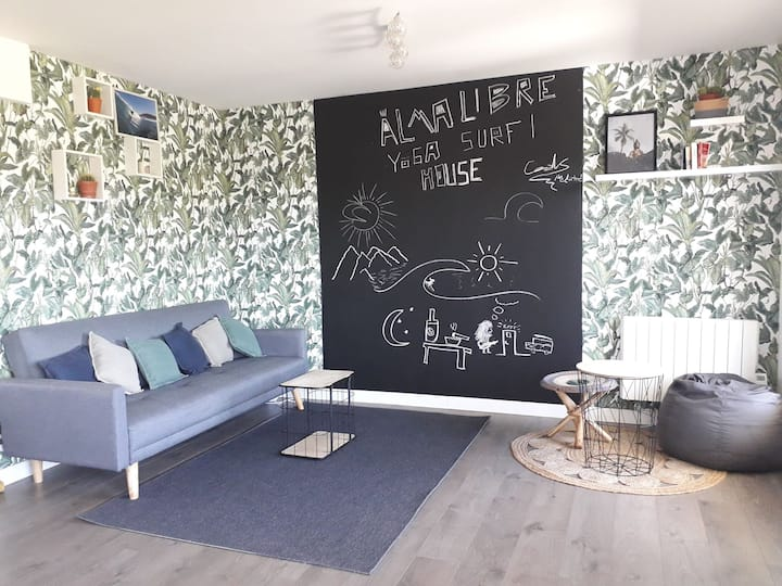 Alma Libre Yoga & Surf House chambre 4 personnes
