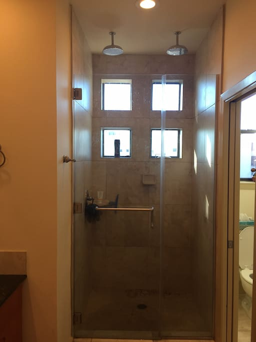 Master Bath - Oversized Shower with Dual Rain Heads