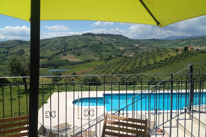 Abruzzo  pool and sea. September deal.
