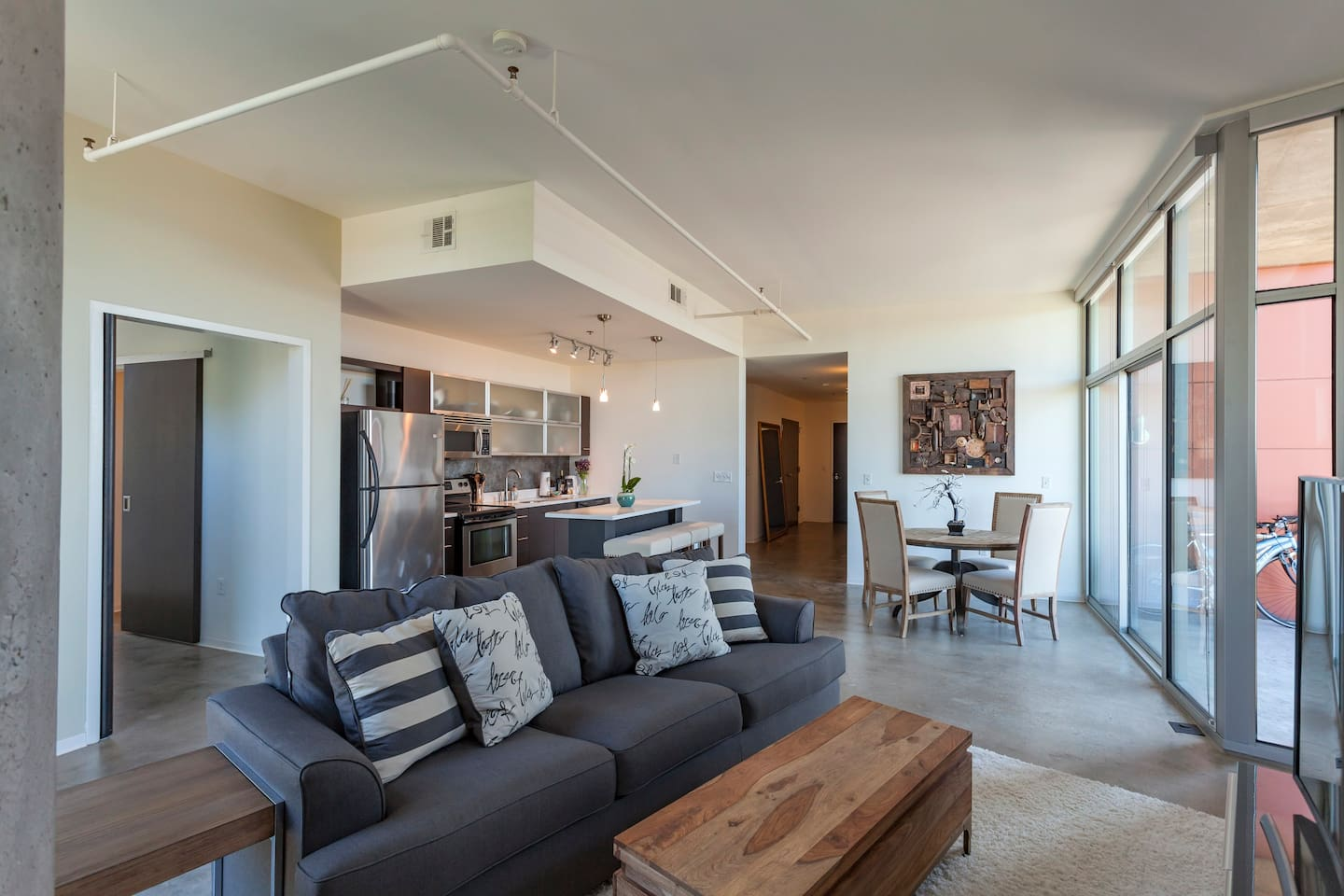 One of the largest 2 bedroom condos in all of downtown Nashville!
