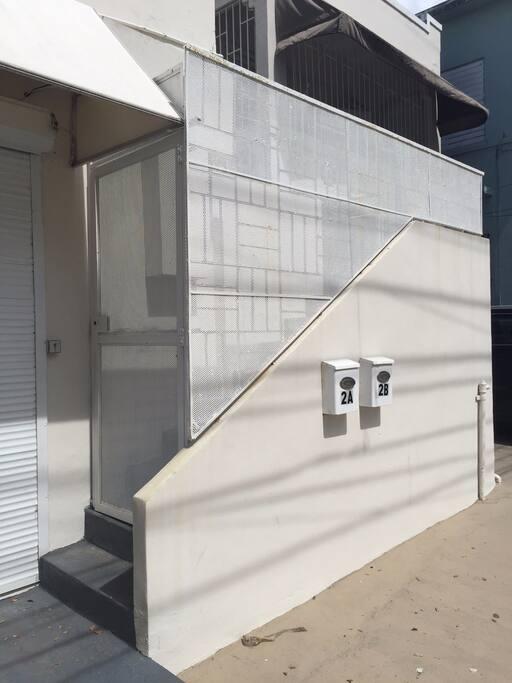 Apartment entry.
