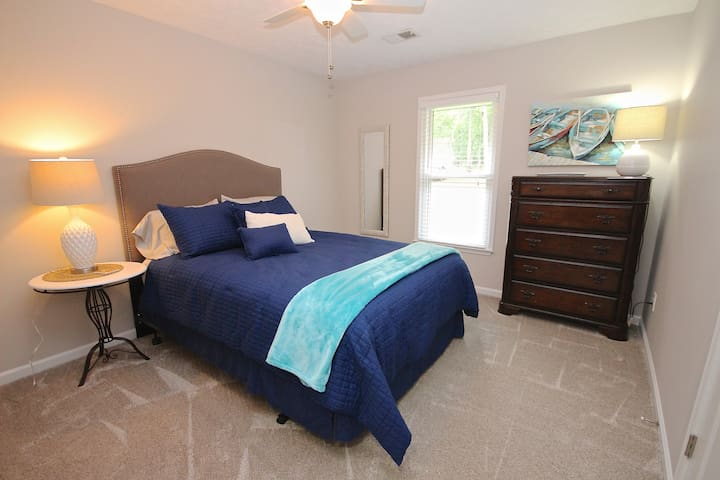 Three beautiful bedrooms with new comfortable mattresses, all part of an amazing renovation