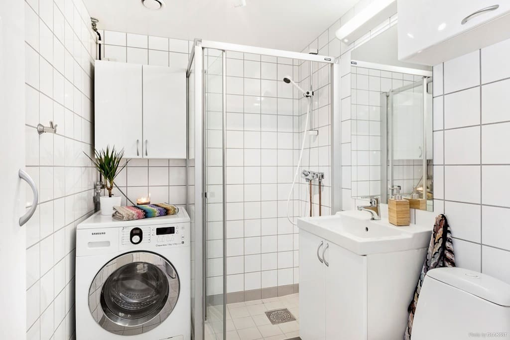 Bathroom. Photo from real estate agent. No difference apart from the soap dispencer.