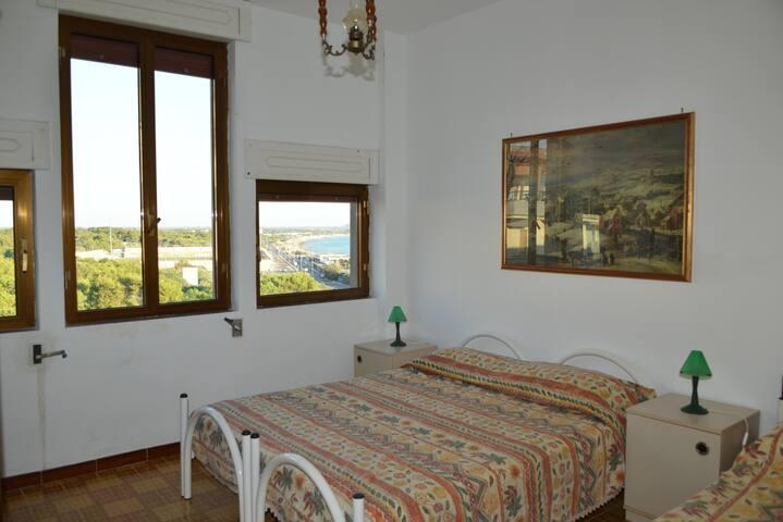 Gallipoli stanza panoramica in casa fronte mare