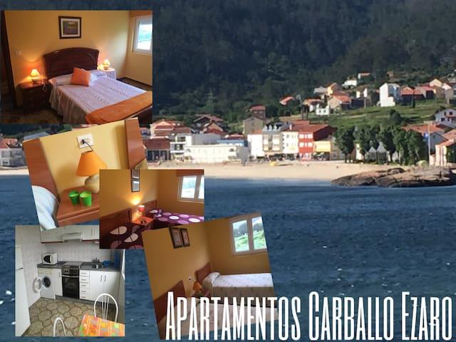Apartamento en Ezaro vistas a la playa 2 piso