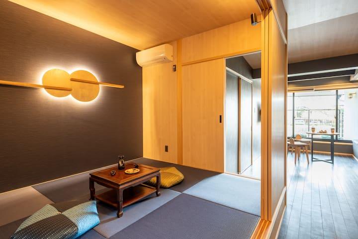 Tranditional Japanese bedroom 2. 傳統日式榻榻米臥室 2。