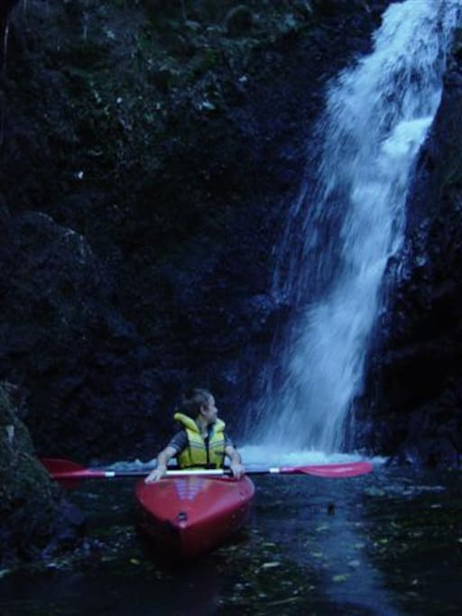 Kayak to the waterfalls
