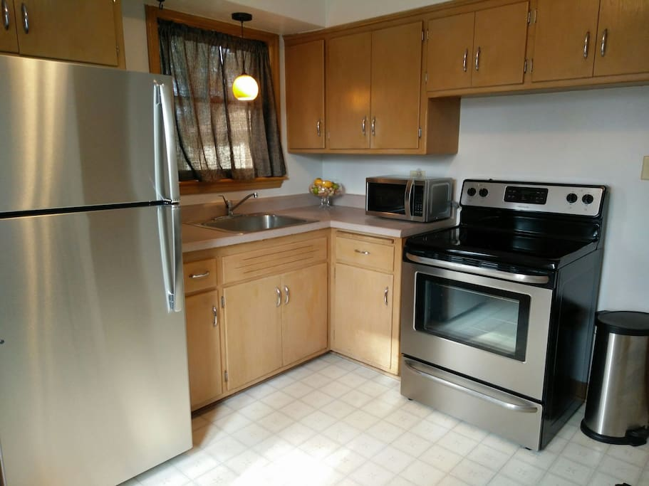 Brand new Stainless appliances.