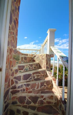 Staircase to outside Patio View