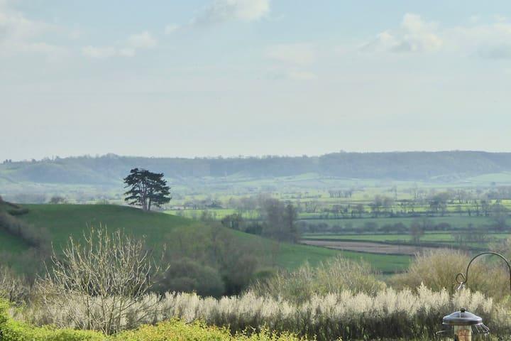 Oakwood Lodge overlooking the Somerset Levels