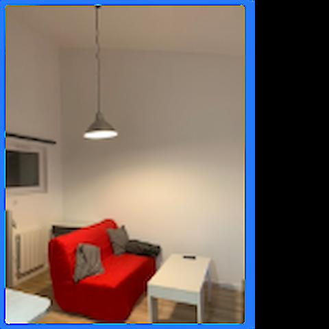 studio 23m2 meuble et equipe
