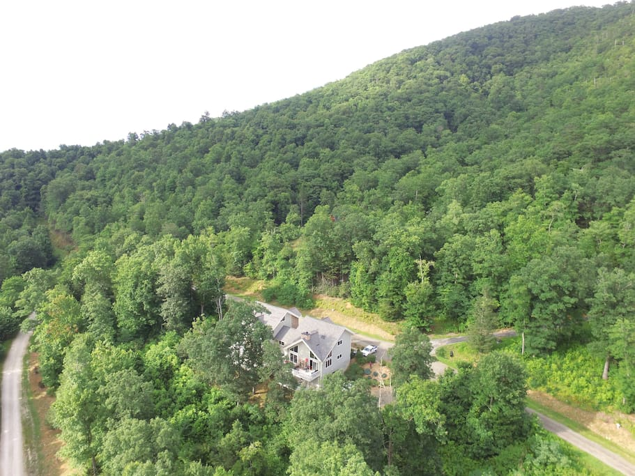 Arial view of RiverRun house