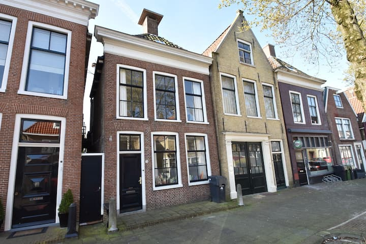 Monument building in the centre of Harlingen close to the ferry to the islands
