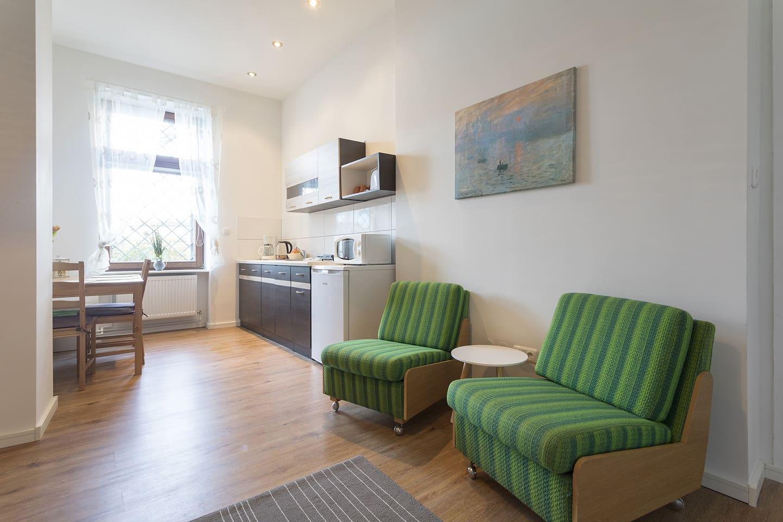 Stylish & Cozy Apartment in Berlin, Wi-Fi, Garden