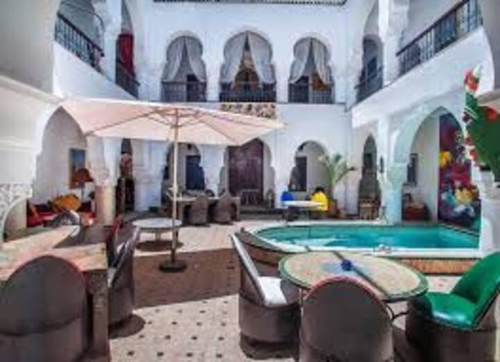 Riad avec piscine-chambre Essaouira