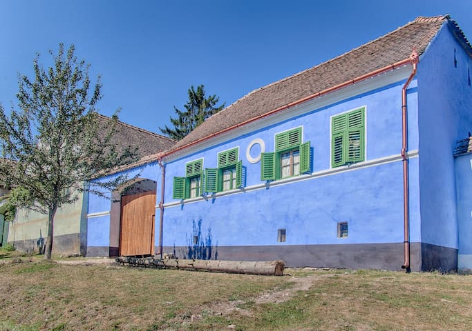 The blue house of Viscri, Transylvania