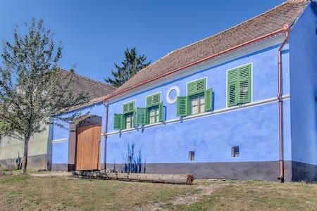 The blue house of Viscri, Transylvania