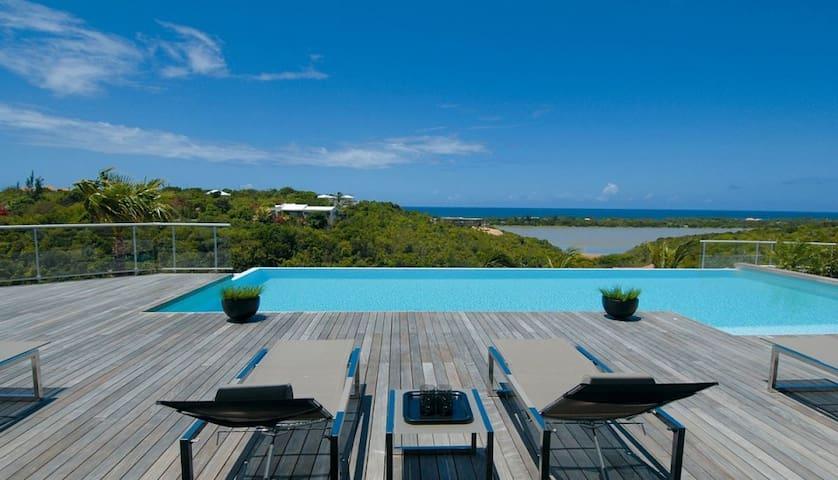 3 beds, air conditioned gym, pool - Collectivité de Saint-Martin - Vila