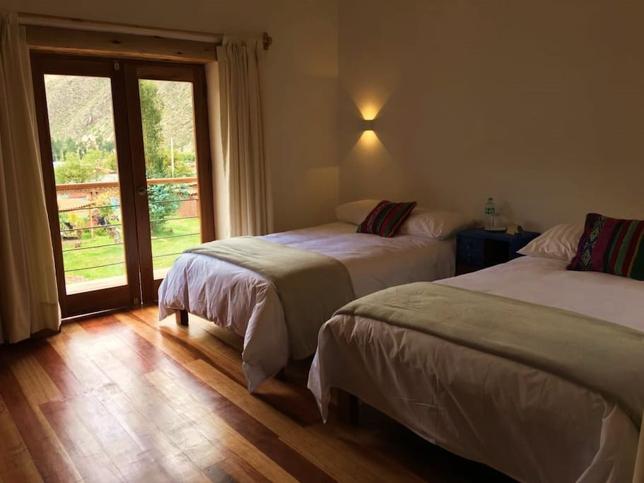 Our rooms with a quiet decoration are comfortable with very soft sheets to enjoy the views.