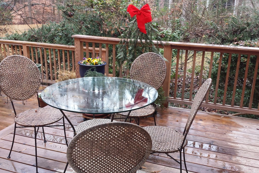 Merry Christmas from the back deck, a bird-watchers paradise.