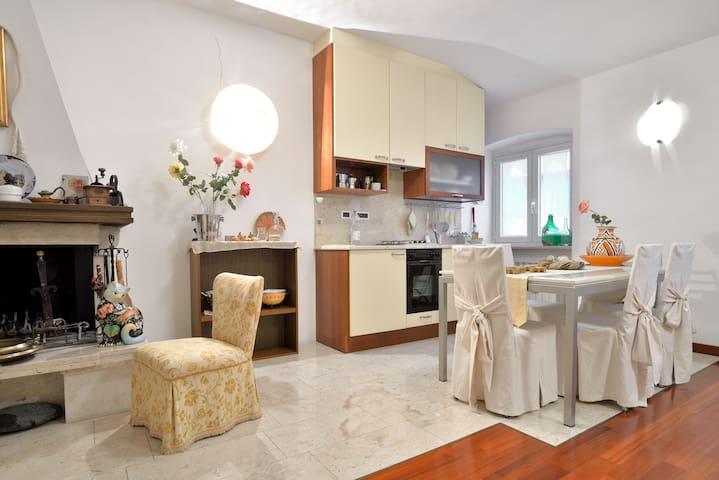 Grazioso appartamento con caminetto - Trieste - Huis