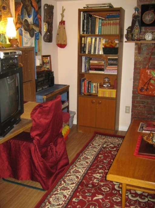 The WWS has a big TV & DVD/VCR (no cable here but tons of great movies in our library).