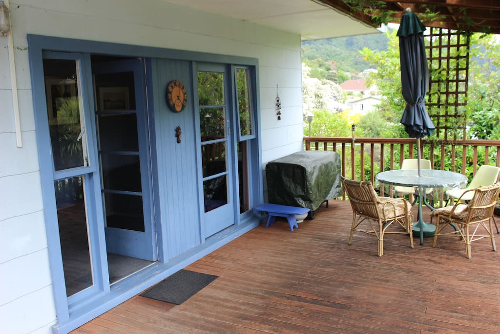 Large deck outside the bedroom