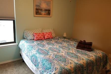 Queen size mattress in new room