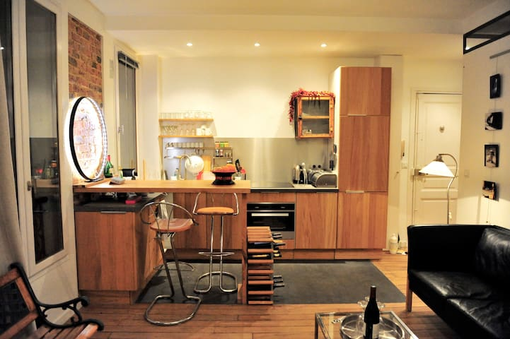 30sqm loft with Eiffel Tower view!