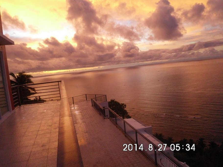 amazing sunset from the balcony of the master bedroom