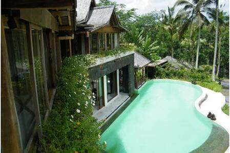 VILLA  400m² + STAFF + PISCINE  - Ubud - House