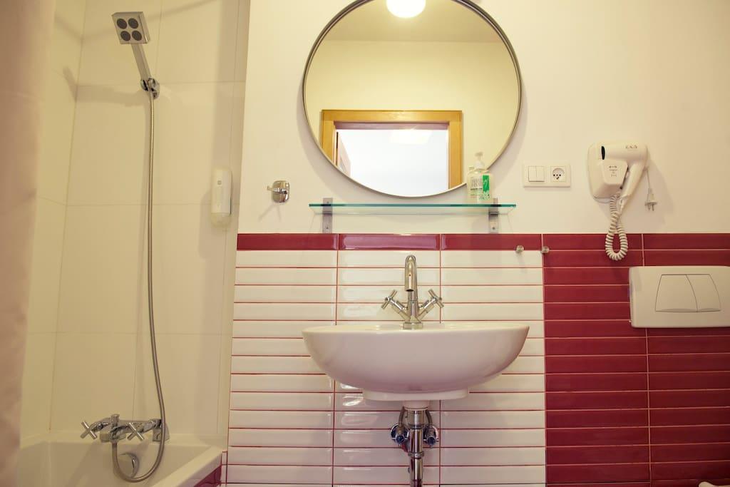 Bathroom - bath & shower