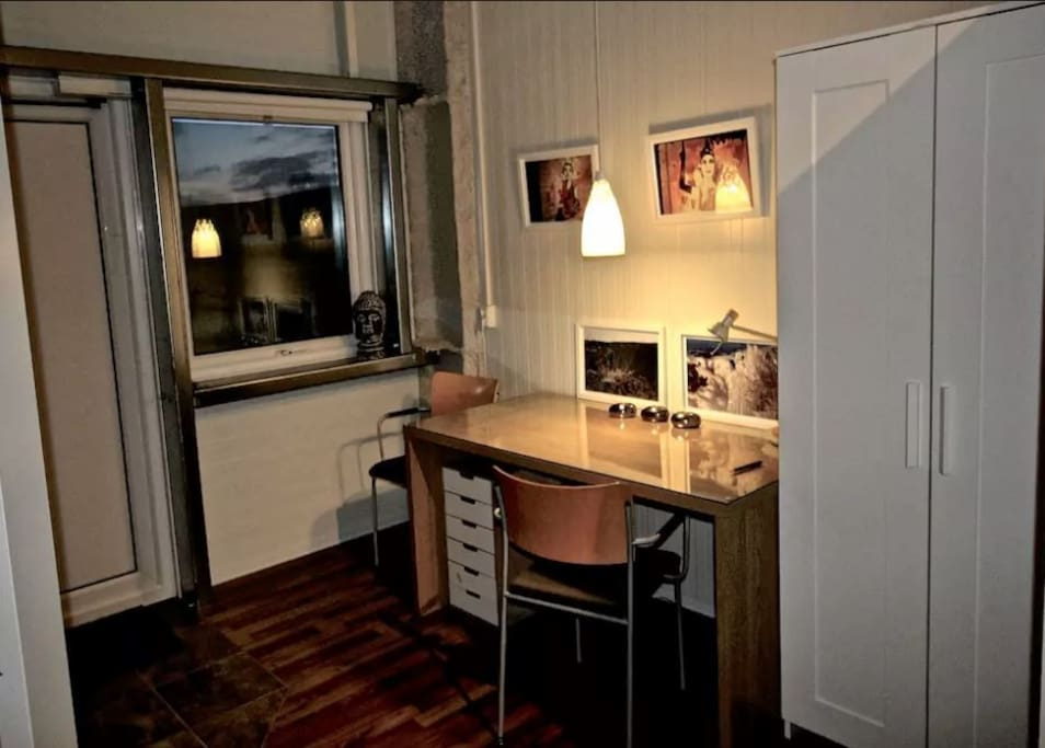A laptop-friendly workstation if you need to get work done on your trip or want to cycle through photos of the day Golden circle studio apartment located 45 minutes outside Reykjavik, Iceland