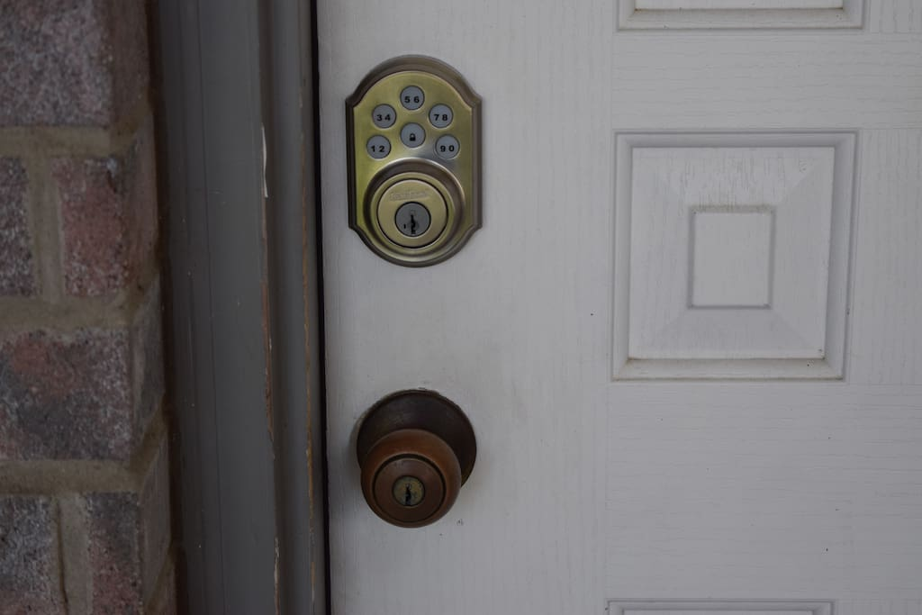 Front Door Keyless Access via Code.