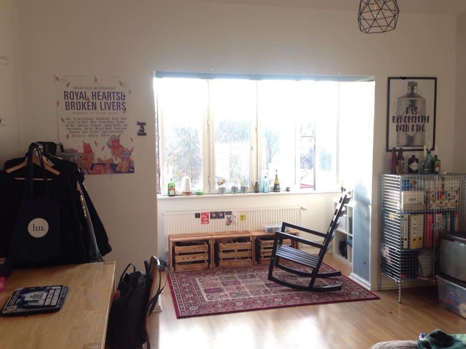die Sonnenseite des Zimmers